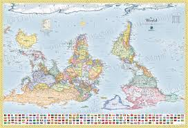 Hanging Flag Upside Down World Upside Down Map With Flags South Up Map