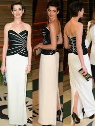 Anne Hathaway Vanity Fair Anne Hathaway Is A Vision Of Modern Glamour At The 2014 Oscars