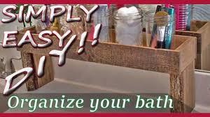 simply easy diy diy bathroom countertop organizer