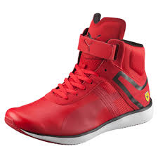 ferrari shoes puma ferrari f116 skin mid men u0027s high tops puma shoes rosso corsa