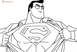 superman coloring pictures download print free