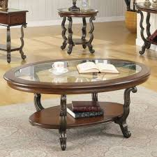 coffee table round oak coffee table sets set in glass