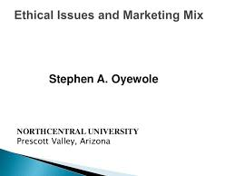 ethical issues in marketing ethical issues and marketing mix