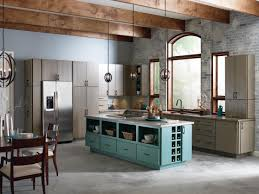 contemporary rustic kitchen with tosca kitchen island color and