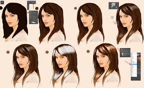 quick digital hair tutorial by syoshiko
