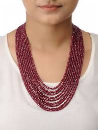 string necklace images Buy ruby multi string beaded necklace online at jpg