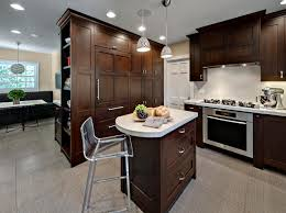 decoration contemporary oak wood kitchen furnishing with small
