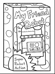 remarkable robot coloring page with october coloring pages