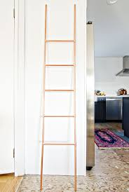 diy copper pipe ladder the vintage rug shop the vintage rug shop