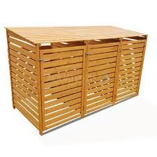 wooden bin outdoor wooden wheelie bin store cupboard shed for garden