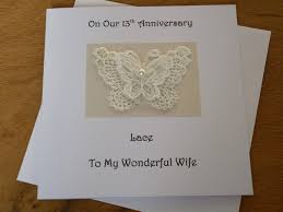 13th anniversary gift 13th wedding anniversary gifts awesome 13th anniversary card lace
