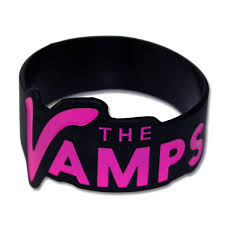 pink silicone bracelet images Official the vamps pink black silicone wristband accessories jpeg