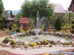 Rock Garden Landscaping Ideas by Landscape Garden Design With Fountain Playuna