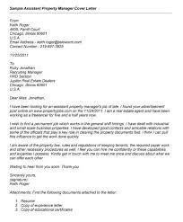 Resume For Property Management Job Property Manager Assistant Cover Letter