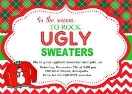 sweater invitations template rainforest