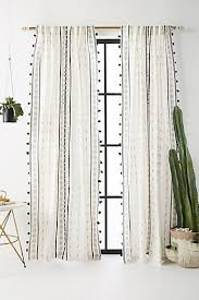 White Black Curtains Black Curtains U0026 Drapes Anthropologie