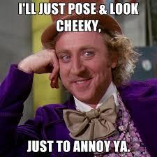 Cheeky Meme - i ll just pose look cheeky just to annoy ya create meme