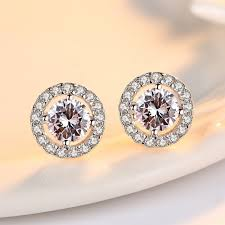 hypoallergenic earrings hypoallergenic sterling silver cz diamond stud earrings