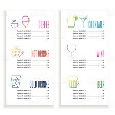 drink menu template free drink menu template stock vector 477682488 istock