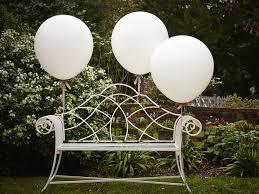 white balloons three white wedding balloons by the wedding of my