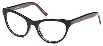 prescription glasses womens cat eye two toned prescription glasses frames in black at