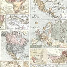 Vintage World Map by Globetrotter World Map Wallpaper Holden 98271 Vintage Ebay