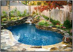 Backyard Designs With Pool Spa Pool Spool Spool With Waterfall Home Pinterest Spa