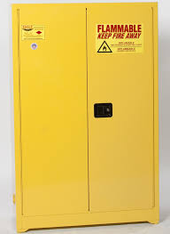 Two Door Storage Cabinet Eagle Flammable Liquid Safety Storage Cabinet 45 Gal Yellow