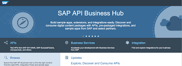 getting started with the sap api business hub sap