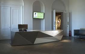 Concrete Reception Desk A Reminder That The Front Desk Could Serve As A Strong Design