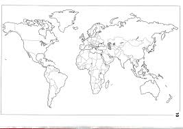 Map Of The World Blank by World United Black And White Clipart Collection