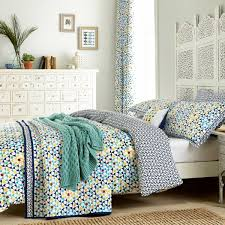 v u0026a bed linen alhambra patterned bedding in navy at bedeck 1951