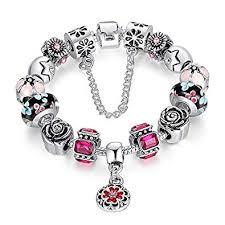 pandora style bracelet diy images Buy carina sterling silver plated pandora style charms bracelet jpg