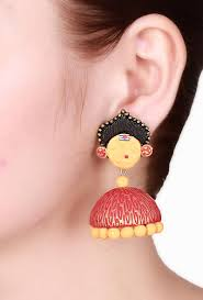 jhumka earrings buy jhumka earrings online shopping for women in and orange