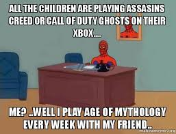 Call Of Duty Ghosts Meme - all the children are playing assasins creed or call of duty ghosts