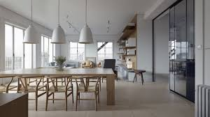 Open Space Floor Plan Dining Room Open Space Dining Room With Traditional Pendant
