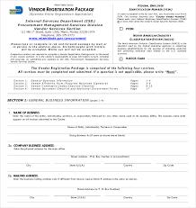 Vendor Information Sheet Template Vendor Registration Form Once You Selected A Vendor You