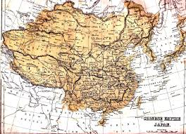 China Map Outline by