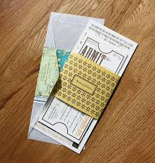 ticket wedding invitations of course these wouldn t match colors at all but i the idea