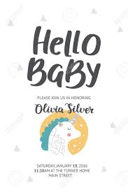 baby shower poster baby shower poster vector invite baby shower card with