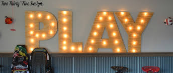 diy marquee letters two thirty five designs