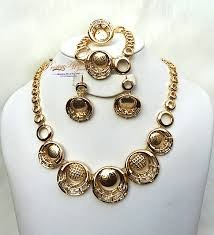 beautiful earring necklace set images New beautiful design circle shaped gold beautiful plated party jpg