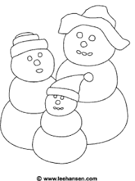 coloring page snowman family snowman family coloring page printable