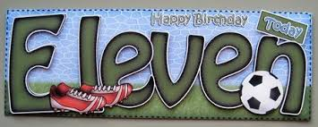 11th birthday football large dl card n 3d decoupage