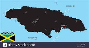 Jamaica Map Jamaica Map Atlas Map Of The World Political Black Swarthy