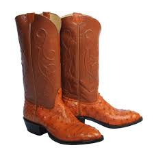 s country boots sale cognac quill ostrich cowboy boots size 8 5e usgator