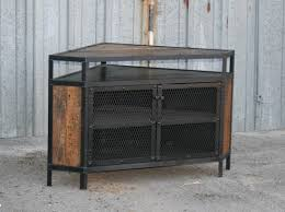 Unique Diy Furniture Ideas Cool Diy Industrial Corner Tv Stands Made From Wood And Metal With