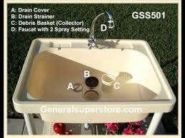 GSS Portable Outdoor Sink YouTube - Portable kitchen sinks