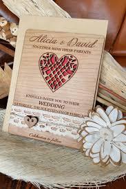 wooden wedding invitations 10 unique wedding invitations