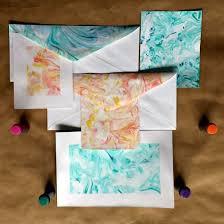 paper marbling using shaving cream and food coloring hometalk